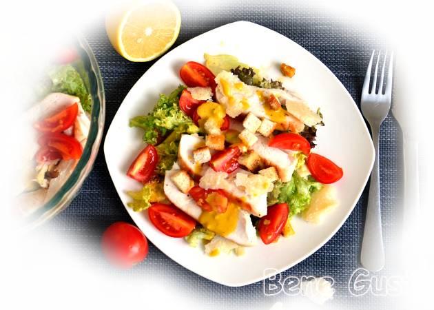 Простий рецепт салата Цезар