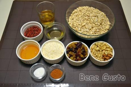 Рецепт гранолы из овсянки с яблочным соком