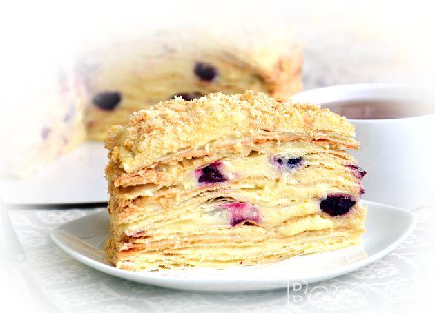 Классический торт Наполеон на сметане