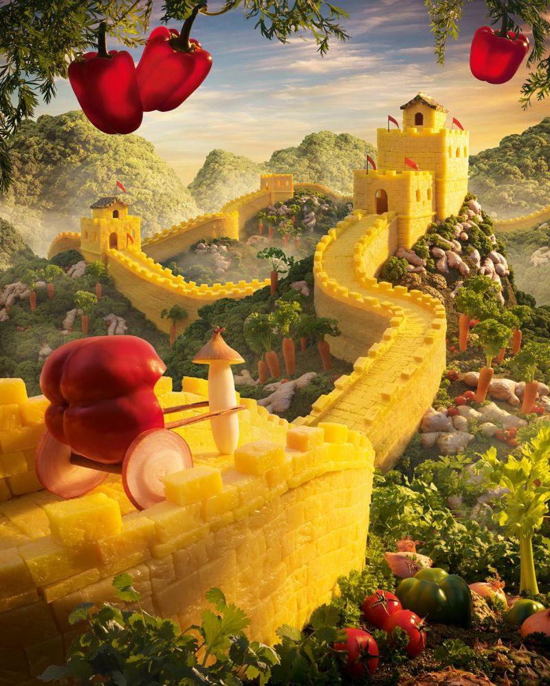 Для строительства Великой китайской стены мастер использовал ананас.