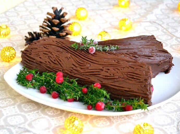 Рождественское полено — французский торт