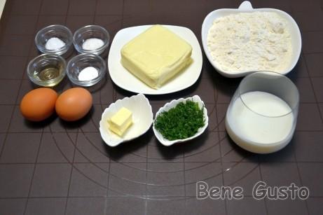 Ингредиенты на хачапури с сыром на кефире