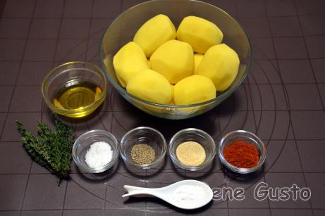 Інгредієнти на запечену картоплю в духовці