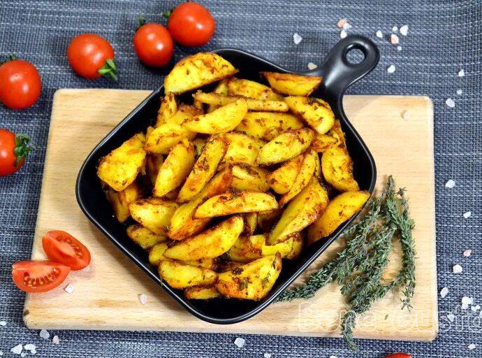 Картофель дольками с хрустящей корочкой