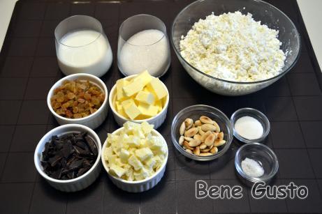 Ингредиенты на творожную пасху без выпечки.