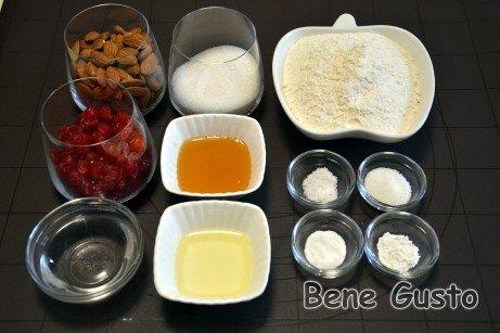 Інгредієнти на рецепт печиво біскотті з мигдалем