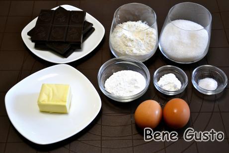 Ингредиенты на шоколадное печенье