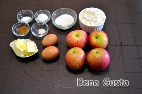 інгредієнти на рецепт яблучні оладки